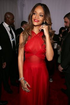 Rihanna Goes Sheer at the 2013 Grammys. Most beautiful dress I have ever seen
