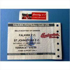 Falkirk v St Johnstone Football Ticket Stub 27/09/2003 Scottish 1st Division