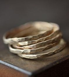 Stacking Gold Bands, Set of 3