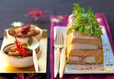La terrine de foie gras à la langouste et chutney