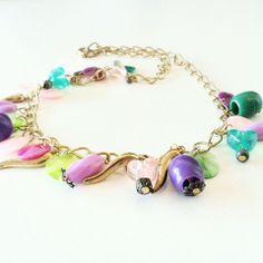 Collar dorado multicolor 'Little Heart' — La Kermesse