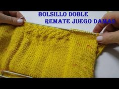 Bolsillo doble remate juego damas -Double pocket with top suit ladies, step. Knitted Hats, Knit Crochet, Pocket, Knitting, Sewing, Lady, Tops, Knit Sweaters, Fabric Samples
