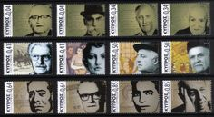 Cyprus Stamps SG 2014 (g) Intellectual Personalities of Cyprus Definitives - MINT