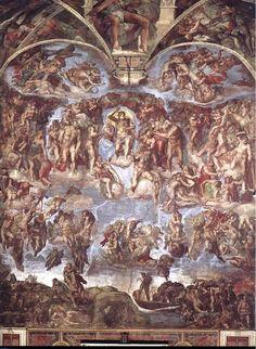 미켈란젤로의 <최후의 심판>에서 가운데의 그리스도 오른쪽 아래 대머리를 하고 있는 '바르톨로메오'가 들고 있는 살가죽이 바로 미켈란젤로 자신이다.