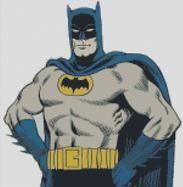 Cross Stitch Chart of Batman