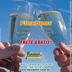 Junho é mês de aniversário da Flexboat! Confira nossa promoção, contate-nos sac@flexboat.com.br ou (11) 4414-1250