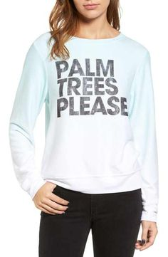 Wildfox Palm Trees Please Sweatshirt