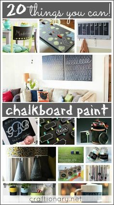 20 things you can chalkboard paint