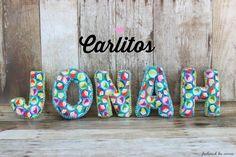 Frühstück bei Emma: Carlitos .. Stoffbuchstaben