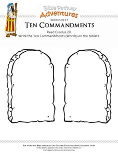 Enjoy our free Bible worksheet: Ten Commandments. Fun for kids to print and learn more about the Bible. Feel free to share with others, too