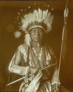 Portrait of Bobtailed Horse (Cheyenne). Collection Richard Throssel. Date Original:1902-1933.  University of Wyoming. American Heritage Center.