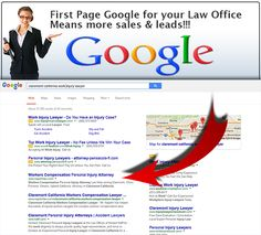 If your not on the first page of Google you are missing out on enormous potential with client leads.