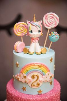 Unicorn cake I like the cake with sprinkles Pastel de unicornio Me gusta el pastel con chispas. Unicorn Themed Birthday, Birthday Cake Girls, Rainbow Birthday, Unicorn Rainbow Cake, Unicorn Party, Cake Rainbow, 4th Birthday, Easy Unicorn Cake, Unicorn Sprinkles