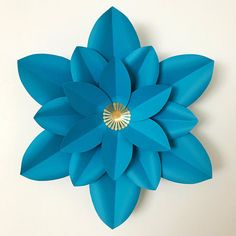 SVG Paper Flower Template with Base DIGITAL Version The