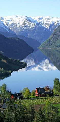 Ulvik, Norway I grew up in Norway and miss it desperately!