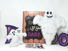 Halloween Decorations Ghost Theme Seasonal Home Bundle Halloween Stuff, Spooky Halloween, Halloween Ghost Decorations, Treat Bags, Witch, Banner, Snoopy, Seasons, Floral