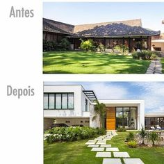 """143 curtidas, 3 comentários - Arquitetura Antes & Depois (@arquitetura_antes_depois) no Instagram: """"Antes e depois: Projeto de arquitetura do escritório @amandamirandaarquitetura  @reforma…"""""""