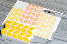 chevron stamp herringbone rubber stamp arrow by byhoneysuckle, $12.00.       Design idea for pages