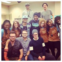 Toby with the Deep Tour artists:  Mandisa, Chris August, Britt Nicole, Crew 1, and Jamie Grace... Wow!