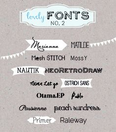 *ann.meer: Lovely Fonts #2