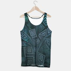 3D Psychedelic Square Explosion Tank Top by Ivana.one