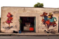 From Yuyi Morales' Pinterest Board: A mural by Saner In Cholula, Mexico StreetArtNews