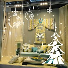 Window Stickers Window Decals Style Snowflake Christmas Tree Window Glass Decoration PVC Window stickers - EUR € 8.81