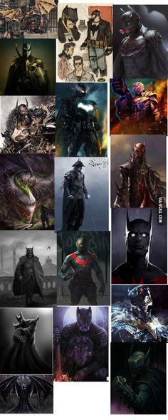 Different interpretations of Batman.