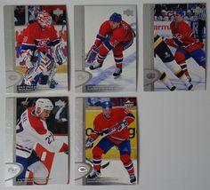 1996-97 Upper Deck UD Series 2 Montreal Canadiens Team Set of 5 Hockey Cards #UpperDeck #MontrealCanadiens