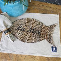 "Platzmatte in Fisch Form ""La Mer"""