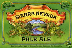 Sierra Nevada Pale Ale Poster - California Beer Poster
