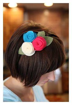 Felt Rolled flowers #flowers