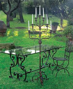 Classic candelabrum in wrought iron by effebiweb.com