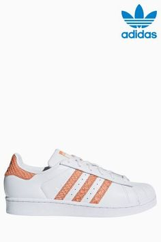 Bielo-červené tenisky adidas Originals Superstar