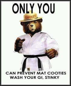 Wash your gi and quit stinking up the place!