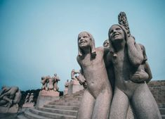 That's how I would describe Frogner Park in Oslo, Norway created by Norweigan artist Gustav Vigeland. Psychological Thriller Movies, Perfect Physique, Norway Oslo, Human Sculpture, Wheel Of Life, Greek Gods And Goddesses, Bus Stop, Human Emotions, All Smiles