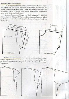 Pants Pattern, Top Pattern, Sleeve Pattern, Pattern Cutting, Pattern Making, Sewing Paterns, Sewing Crafts, Sewing Projects, Japanese Sleeve