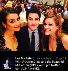 Darren Criss Mia Swier with Lea Michele