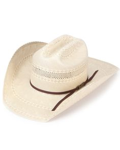 American Straw Cattleman Crease Cowboy Hat - Chocolate Band 75b11b03b935