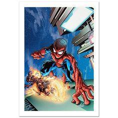 STAN LEE Signed Spider-Man Original Marvel Artwork Comics Ghost Rider COA @ niftywarehouse.com #NiftyWarehouse #Avengers #Movies #TheAvengers #Movie #ComicBooks #Marvel
