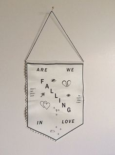 Banner inspired by the Twin Peaks theme song, Falling - NEW by FUN CULT via Etsy.