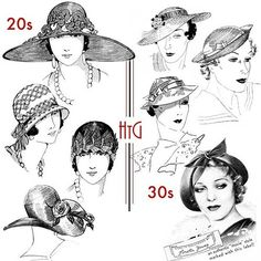 1930s Fashion Hats 1920s-30s hats