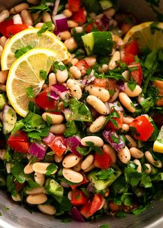White Bean Tabbouleh Salad | RecipeTin Eats