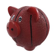 Funny Basketball Pig Piggy Bank Sports, Brown (Plastic)