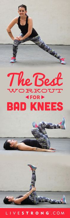 Try These 14 Knee-Strengthening Exercises Don't let bad knees slow you down.Don't let bad knees slow you down. Yoga Fitness, Sport Fitness, Fitness Diet, Fitness Motivation, Health Fitness, Health Diet, Fitness Routines, Health Club, Workout Fitness