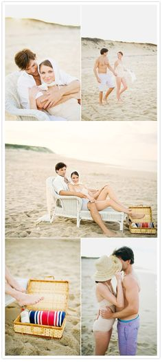 It could be cool to use some lounge chairs.  What kind of beach equipment do you have... anything cute?