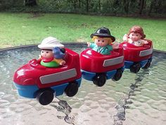 Fisher Price Little People Roller Coaster W 3 Little People Figures 2001 Mattel #FisherPrice