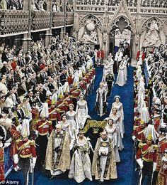 The Queen's coronation ceremony in Westminster Abbey was the first great BBC television spectacular the world had seen Hm The Queen, Royal Queen, Her Majesty The Queen, Queen Mary, King Queen, Princess Elizabeth, Princess Margaret, Princess Kate, Queen Elizabeth Ii