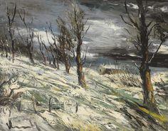 Snow Landscape. Maurice de Vlaminck