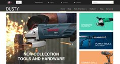 Dusty Tools and Hardware Theme for Odoo v8 Ecommerce